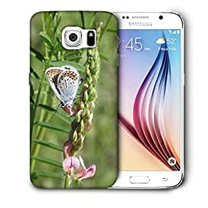 Snoogg White Butterfly Printed Protective Phone Back Case Cover For Samsung Galaxy S6 / S IIIIII