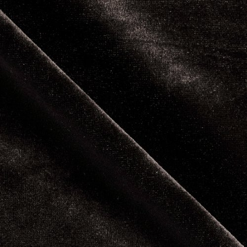 Stretch Velvet Knit Black Fabric