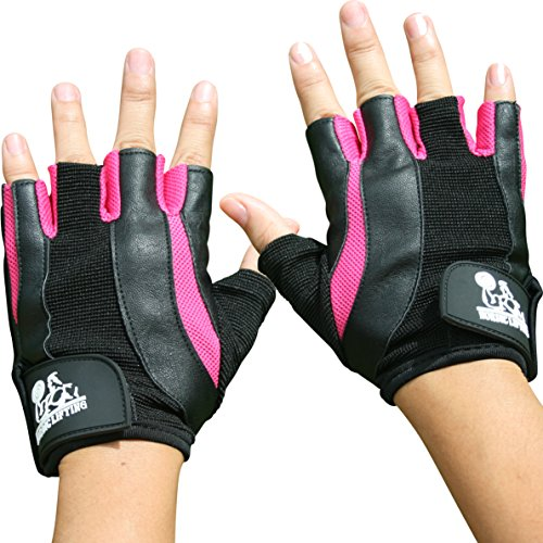 Weight Lifting Gloves for Women - Sports & Fitness, Gym and CrossFit - By Nordic Lifting - 1 Year Warranty (Pink, S)