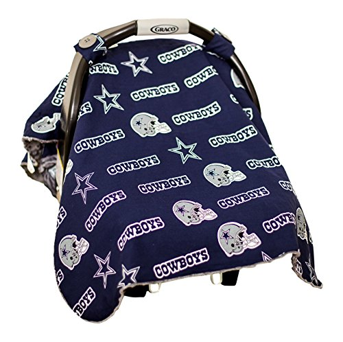 Baby Fanatic Car Seat Canopy, Dallas Cowboys - 1