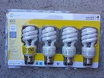 Ecosmart 14-watt Bright White Compact Fluorescent (Cfl) Light Bulbs 4-pack (Equivalent to Standard 60 Watt Bulbs)