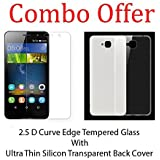 Combo Pack 2.5D 0.33Mm Curve Edge Tempered Glass Screen Protector + Perfect Fitting Soft Silicon Transparent Back...