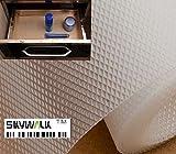 Skywalk Multipurpose Textured Super Strong Anti-Slip EVA Mat- full 5mtr Length(Transparent/white color)+ Free 1ps Brass Horse Shoe Naal for Good Luck