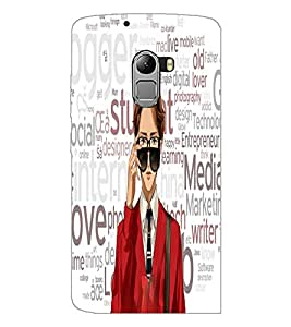 PrintDhaba Typography D-3943 Back Case Cover for LENOVO VIBE K4 NOTE (Multi-Coloured)