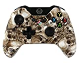 """Golden Bone Skulls "" Xbox ONE Custom Modded Controller Exclusive Design - CO..."