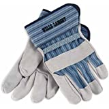 Wells Lamont Mens White Mule Leather Work Gloves 224 Xs