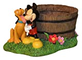 Woods International 4055 Mickey Mouse and Pluto Planter, 12.125-Inch by 7.625-Inch by 8.375-Inch