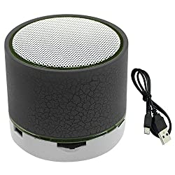 D Excellence musice Bluetooth Speaker, Mini Portable Bluetooth Wireless Speaker with Colorful LED Light and Build-in Mic, Support USB/AUX/TF/SD Card - mix color