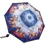 Kittens Ahoy Folding Travel Umbrella Push Button Collapsible Rainy Day Gear