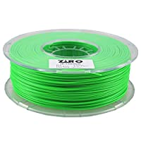 ZIRO 3D Printer Filament PLA 1.75 1KG(2.2lbs), Dimensional Accuracy +/- 0.05mm, Fluo green by ZIRO