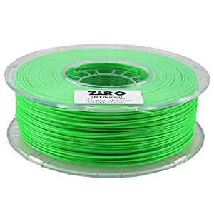 ZIRO 3D Printer Filament PLA 1.75 1KG(2.2lbs), Dimensional Accuracy +/- 0.05mm, Fluo green by ZIRO