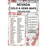 Nevada, Gold & Gems, 5 Map Set Then & Now