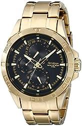 Armitron Men's 20/5059BKGP Multi-Function Black Dial Gold-Tone Stainless Steel Bracelet Watch