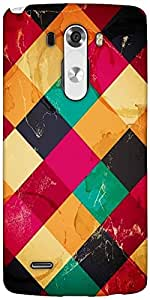 Snoogg Rhombbus Rainbows Designer Protective Back Case Cover For LG G3