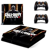 Playstation 4 + 2 Controller Aufkleber Schutzfolie Set - Call of Duty Black Ops 3 (3)  PS4
