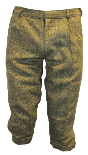 WWK Mens Derby Tweed Green Plus Fours Breeches Breeks Trousers Size 32-40 (38