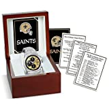 New Orleans Saints Super Bowl Champions Mens Chronograph Watch by Bradford Exchange