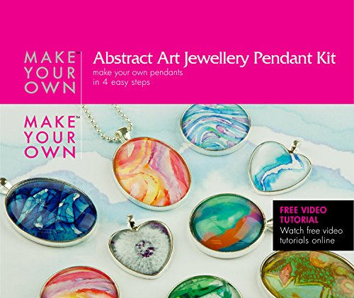 Abstract art glass pendant jewelry making craft kit make your own abstract art glass pendant jewelry making craft kit make your own costume jewelry pendant necklace best craft kit for girls beginners teens and adults aloadofball Gallery