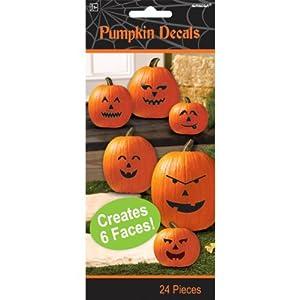 Halloween Toy ~Make a Pumpkin Jack-o-lantern Halloween Decals ~ 6 Count