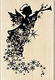Inkadinkado Silhouette Angel Trail Wood Stamp