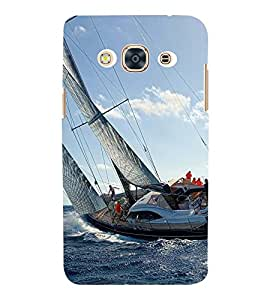 SAILORS SHIP WITH WILD SEA TIDES 3D Hard Polycarbonate Designer Back Case Cover for Samsung Galaxy J3 (2016) :: Samsung Galaxy J3 (2016) Duos with dual-SIM card slots