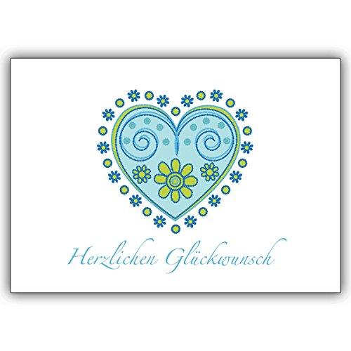 1 Geburtstagskarte: Verschicken Sie herzliche Glückwünsche mit diesem schönen Herz