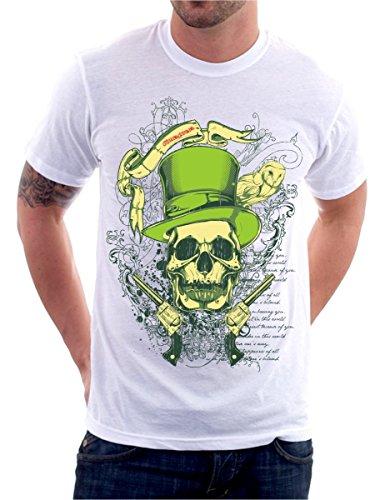 t-shirt TATTOO OLD SCHOOL SKULL ROCK teschio S M L XL XXL maglietta by tshirteria