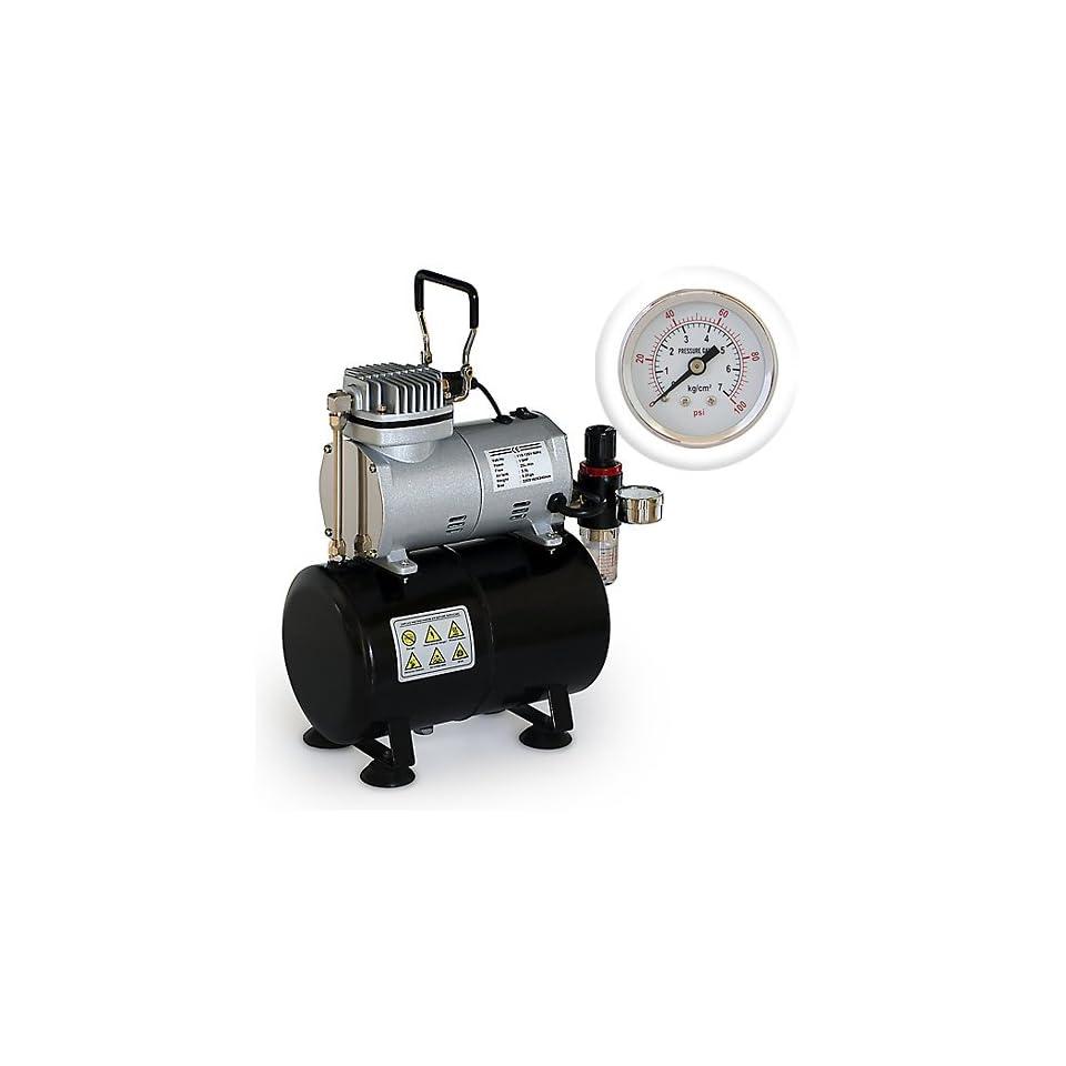 PointZero Portable Airbrush Air Compressor Oil less 3L Tank 1/5 HP