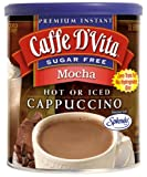 Caffe-D'Vita-Sugar-Free-Mocha-Instant-Cappuccino-8.5-Ounce-Canisters-Pack-of-6