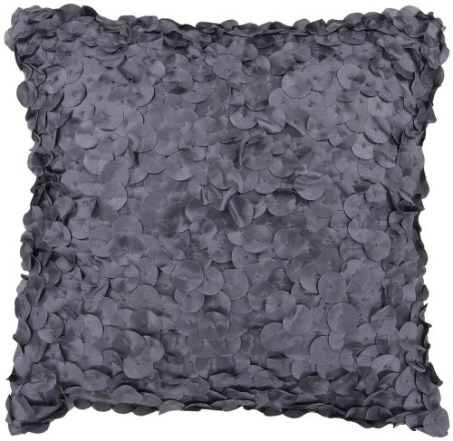 Surya Circle Applique 18 Square Charcoal Gray Accent Pillow