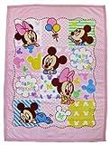 Disney ベビーミッキー&ミニー マイクロファイバー毛布 85×115cm Z1851-PI