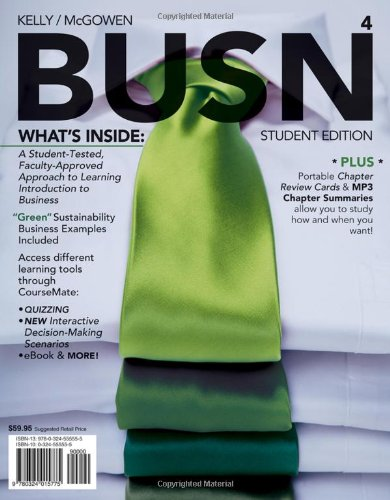 BUSN 4 (with Business CourseMate with eBook Printed...