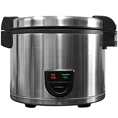 Town 58131 60 Cup (30 Cup Raw) Electric Rice Cooker / Warmer - 220V - Restaurant Equipment by Town
