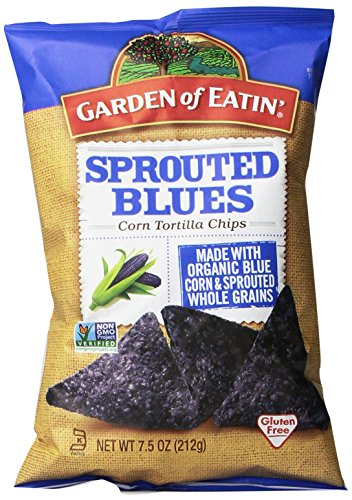 Garden of Eatin' Sprouted Blues Corn Tortilla Chips, 7.5 Ounce (Pack of 12) (Organic Blue Corn Flour compare prices)