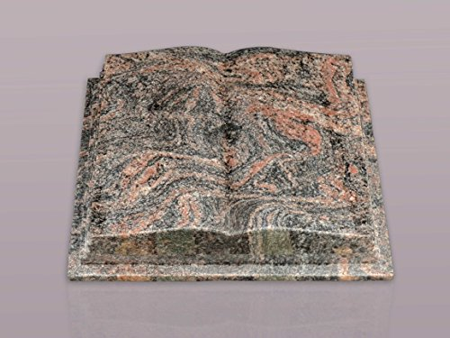 """Buch Grabstein aus Granit """"Himalaya"""" 45-35-12 cm inkl. Gravur - Grabstein, Grabkissen, Kissenstein, Grabplatte, Gedenkstein mit Bild, Motiv"""
