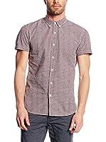 Tom Tailor Denim Camisa Hombre (Morado)