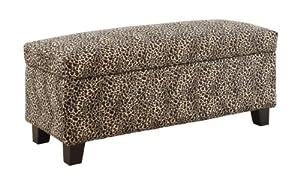 Groovy 7 Homelegance 471Lp Leopard Print Lift Top Storage Inzonedesignstudio Interior Chair Design Inzonedesignstudiocom
