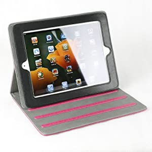 For the New Ipad 3 Smart Cover Folio Stand Hot Pink Cloud Pattern