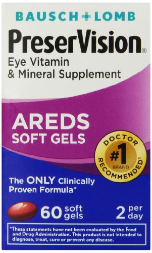 PreserVision Eye Vitamin and Mineral Supplement, With Areds, Softgels 60 ea