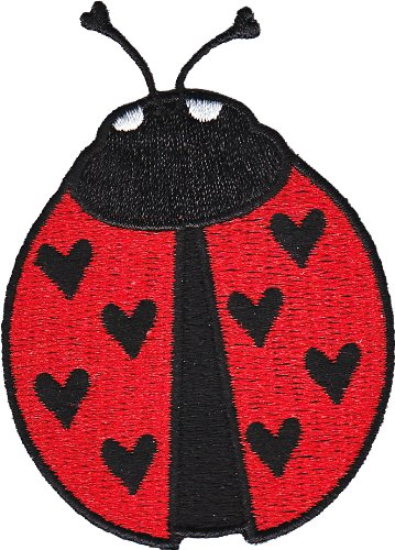 Application Animals Ladybug with Hearts Patch - 1