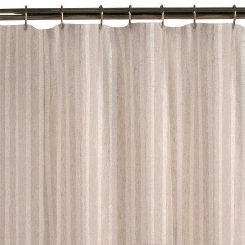 Maytex Linen Stripe Shower Curtain