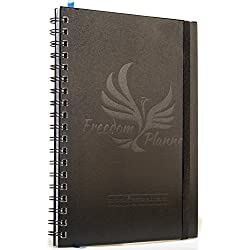 Freedom Planner 2017 -The Ultimate Personal Organizer, Monthly Weekly Calendar, Goal Journal & Motivational Notebook - 7x10size 100% recycled paper - For Men & Women who want to EXCEL in life!