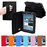Snugg Galaxy Tab 2 7.0 Leather Case in Black - Flip Stand Cover with Elastic Strap and Premium Nubuck Fibre Interior... by Snugg