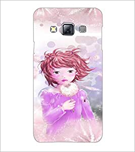 PrintDhaba Playing Girl D-2659 Back Case Cover for SAMSUNG GALAXY A3 (Multi-Coloured)