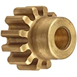 Boston Gear Spur Gear, 14.5 Pressure Angle, Brass, Inch, 24 Pitch