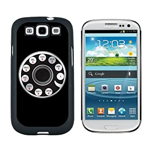 Retro Rotary Phone - Snap On Hard Protective Case for Samsung Galaxy S3 - Black