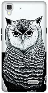 The Racoon Grip The Owl hard plastic printed back case / cover for Oppo R7 Lite