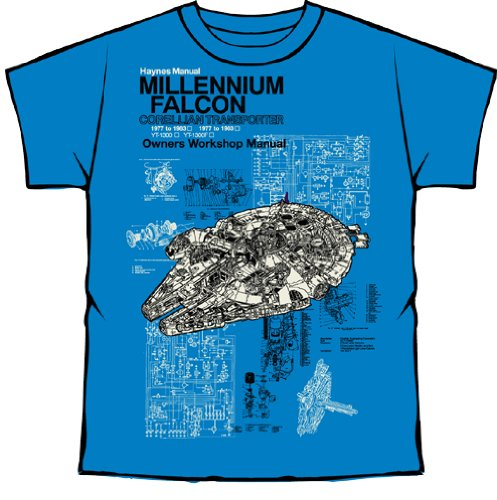 Official Licensed Merchandise - Haynes Manual Star Wars T Shirt Millennium Falcon new