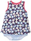 Zutano Baby-Girls Infant Blaue Blumen A-Line Jumper