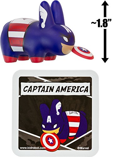 "Captain America ~1.8"" Mini-Figure: Kidrobot x Marvel Labbit Series #2 by Frank Kozik [UNCOMMON]"
